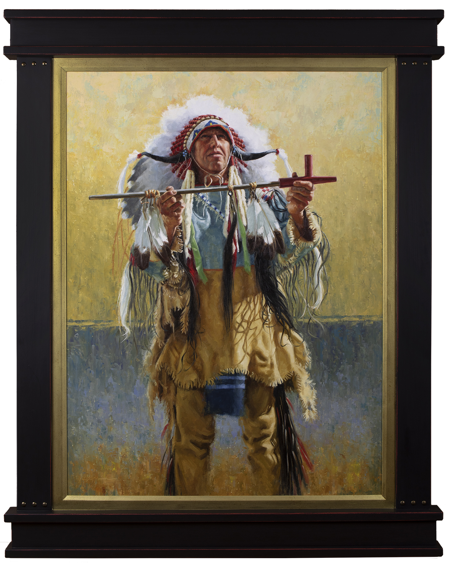 Portrait of Native American man.