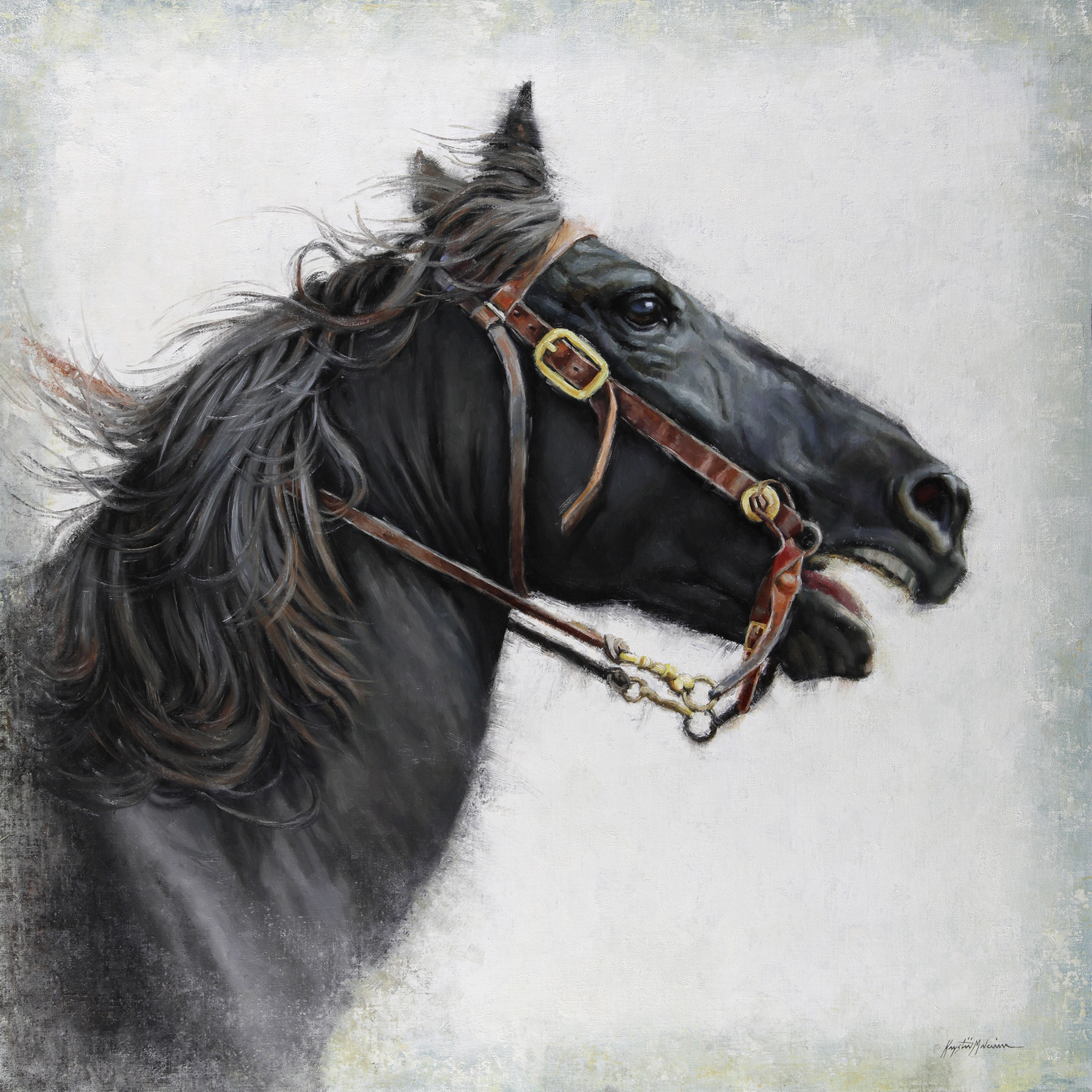 Race The Wind, Black Horse painting