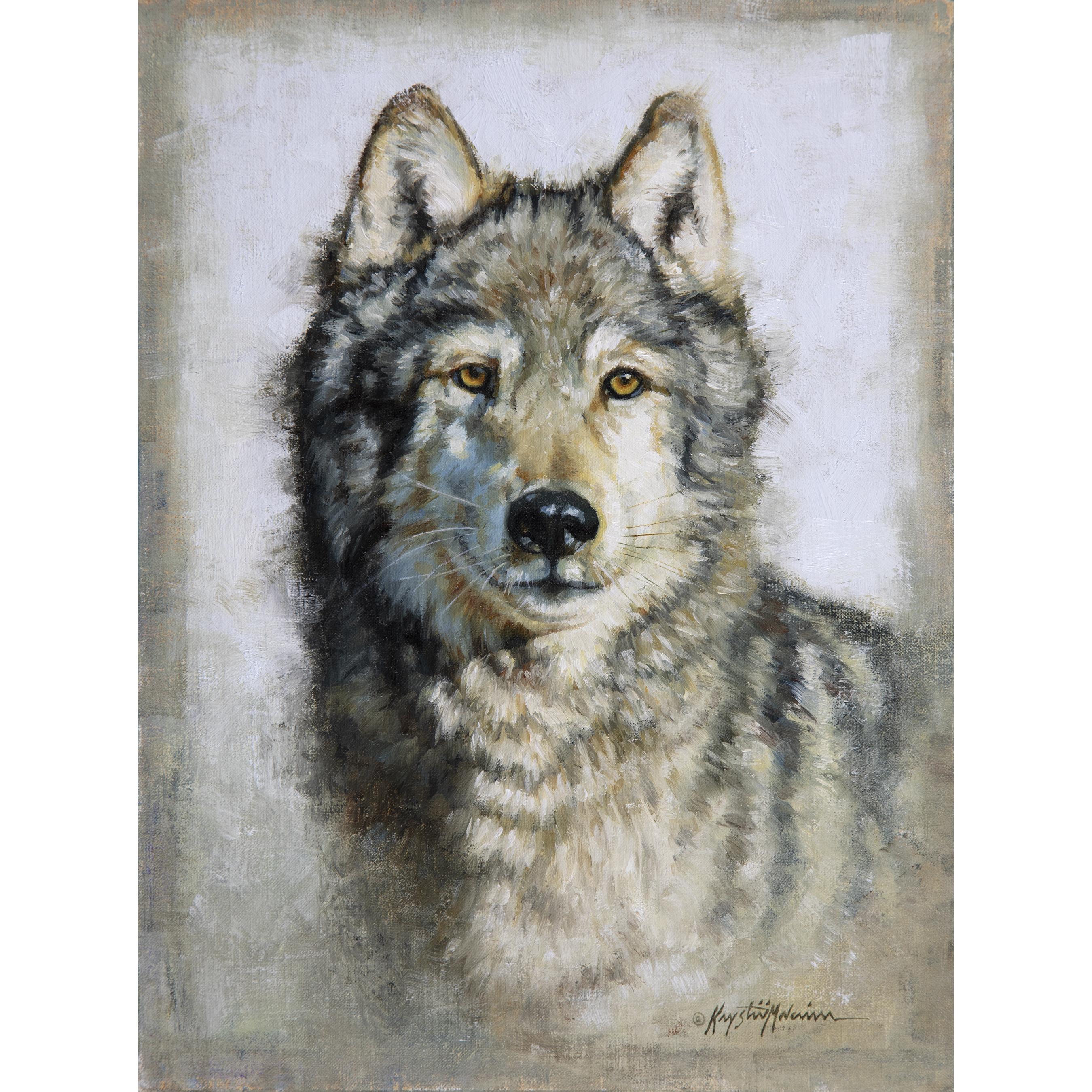 The Watcher, wolf portrait